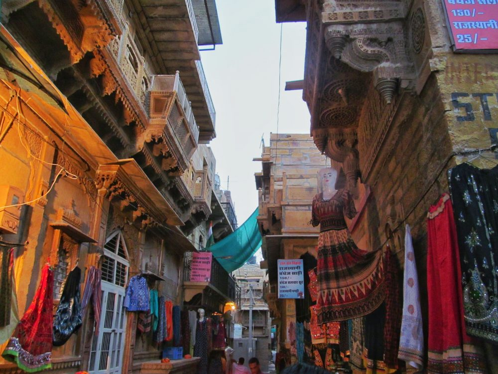 Busy Touristic Markets Of Jaisalmer