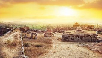 Hemakuta Hill Sunset Point Ancient Ruins Hampi, Karnataka, India