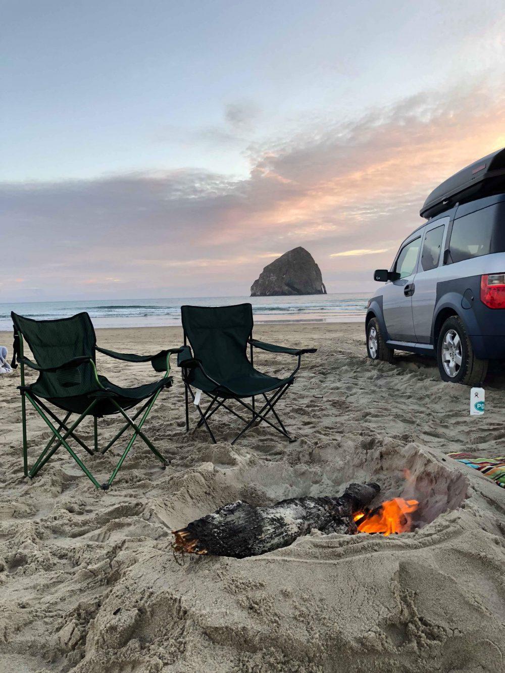 Pacific City Beach Oregon Sunset