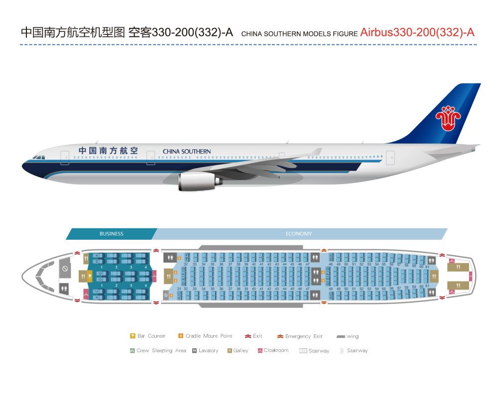 China Southern Airlines CSAIR The Fleet And Cabin Layout 1
