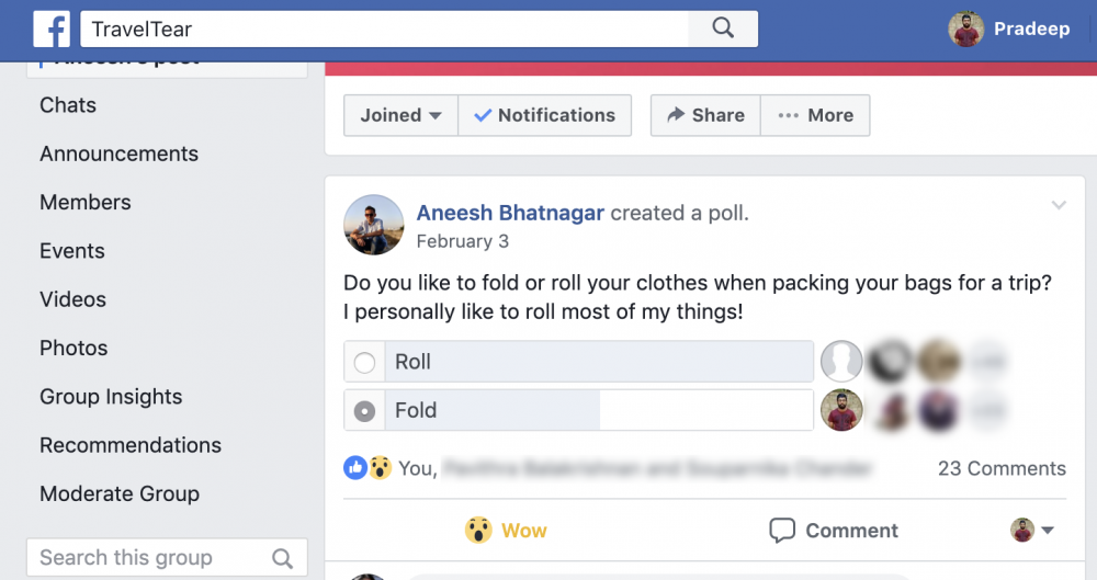 Roll Your Clothes For More Room Poll TravelTear