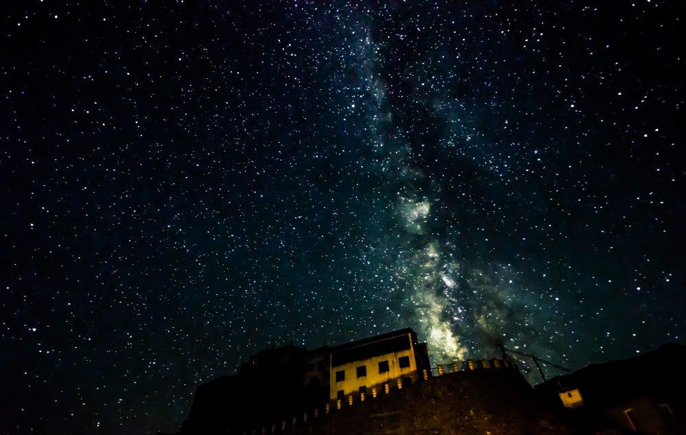 Milky Way Over Key Gompa Tibetan Buddhist Monastery