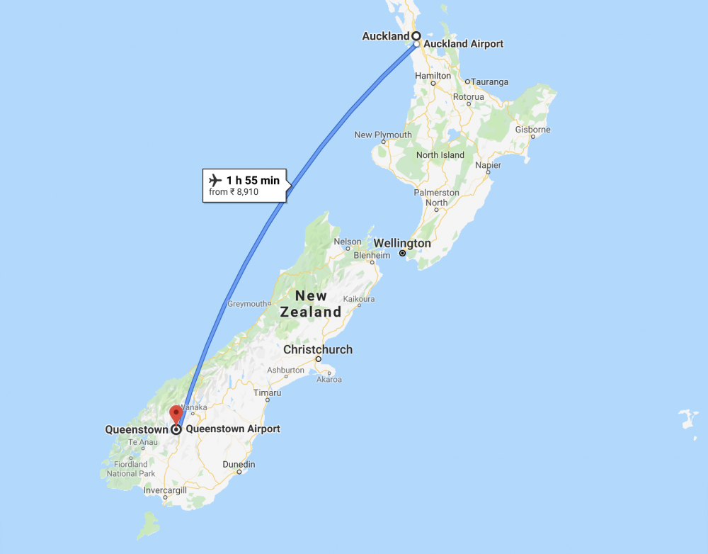 Auckland To Queenstown Flight New Zealand