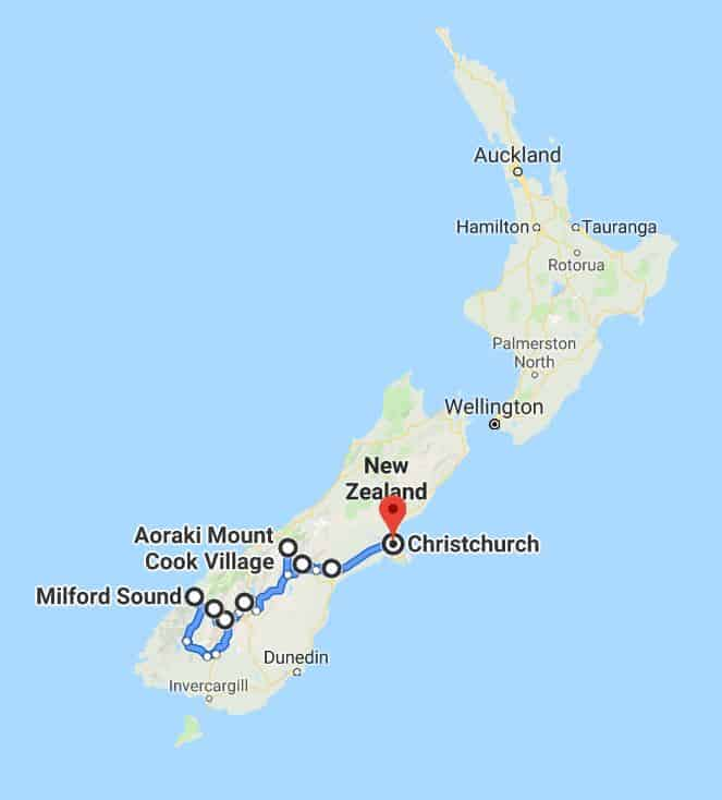 South Island Route Map New Zealand.JPG