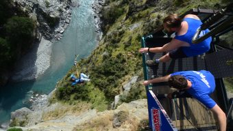 Jump Off The Worlds Highest Cliff New Zealand NZ