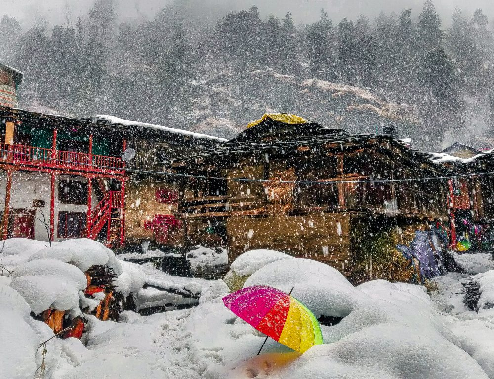 Manali India And Snow