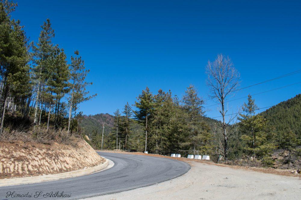 Way To Dochula Bhutan