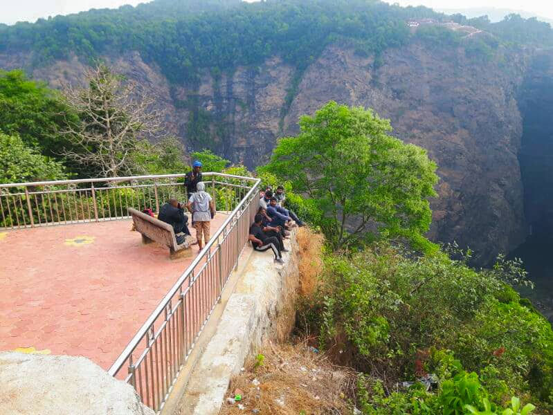 A Picture Of Us At The Jog Falls View Point