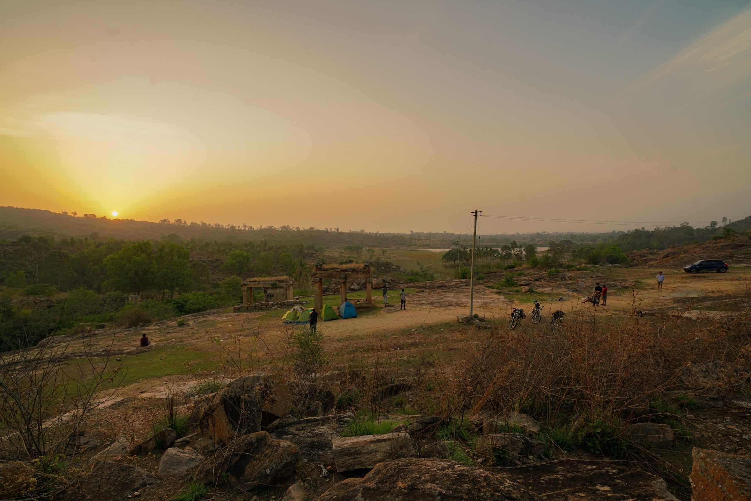Melukote Campsite Sunrise