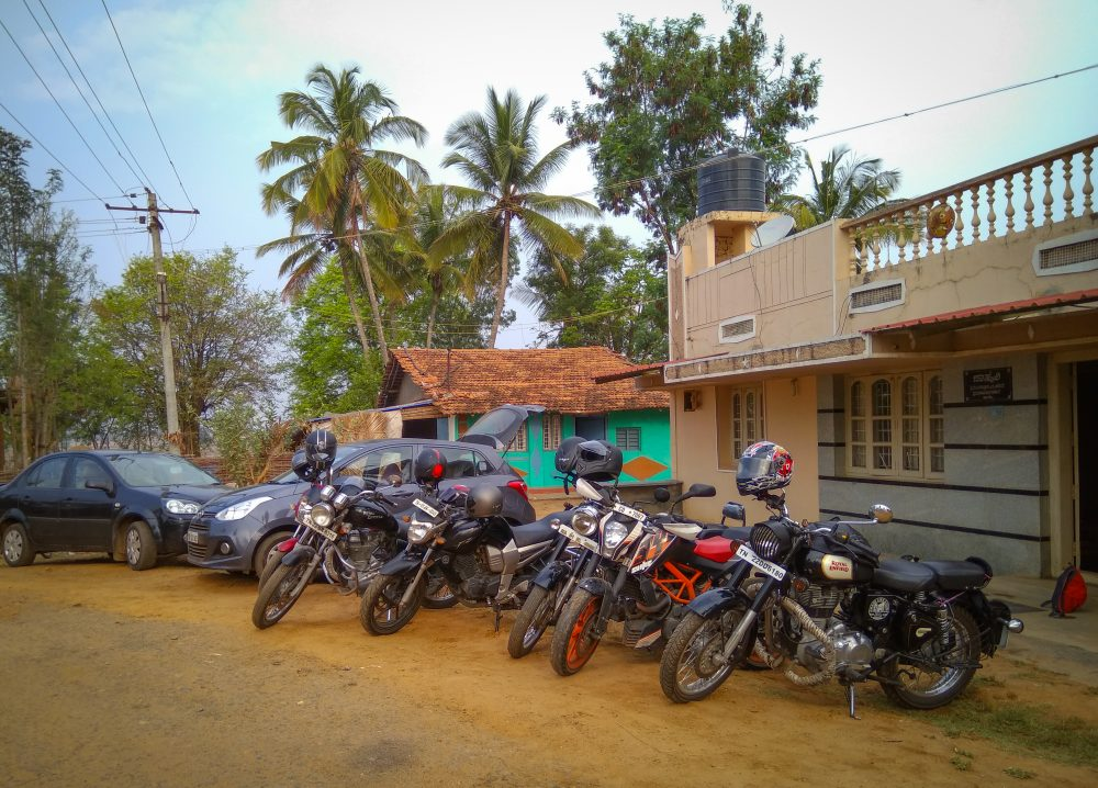 The Convoy Outside Our Friends Native Home At Shimoga