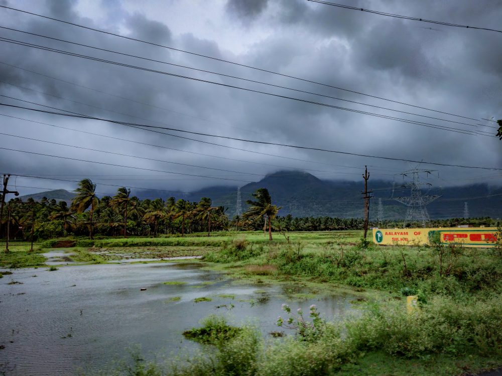 The Storm Hits Thenmala Foothills
