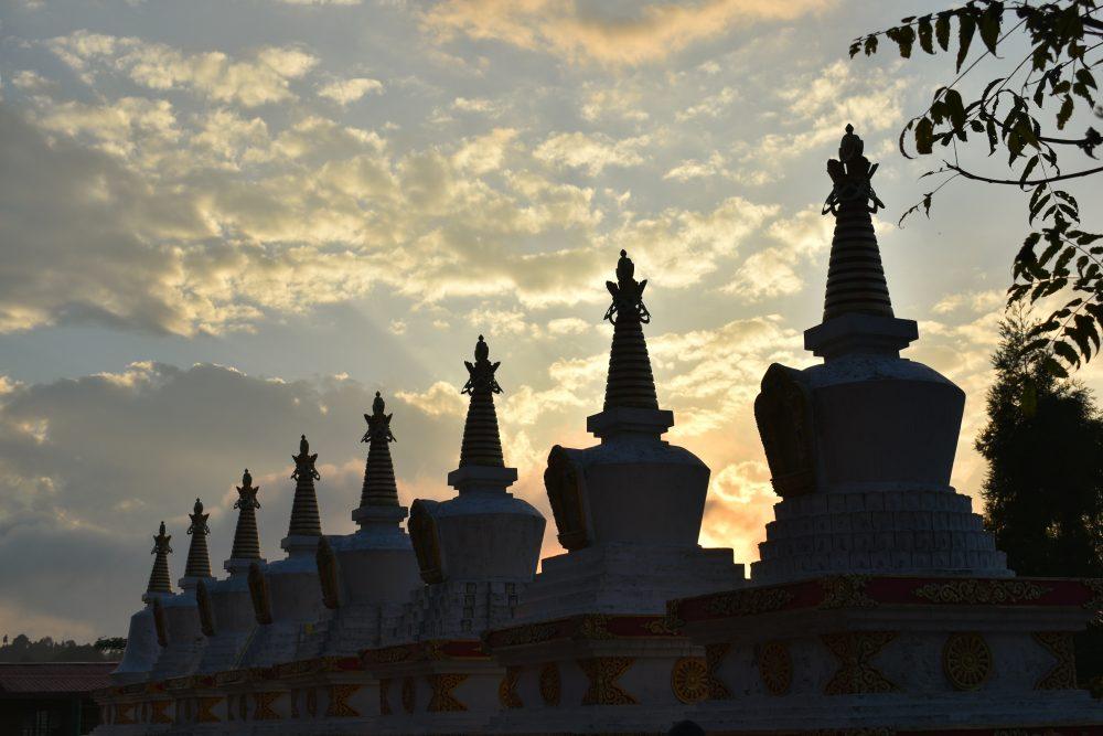 Bokar Monastery During A Gorgeous Sunset
